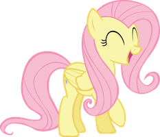 Happy Fluttershy by RainbowCrab
