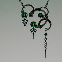 Eirene Steampunk Necklace- SOLD by YouniquelyChic
