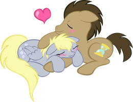Vector Trace Derpy and The Doctor Sleeping by Entity-Nate