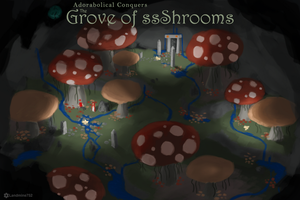 Adorabolical Conquers the Grove of Shrooms by Landmine752