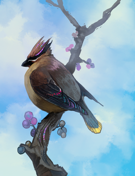 Waxwing by Radioactive-Insanity