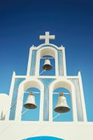 Greek Orthodox Church in Santorini by micahgoulart
