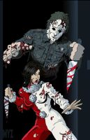 Jamie vs Michael Myers by Myzery-Creations
