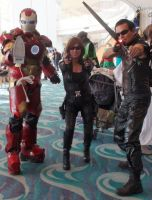 Iron Man, Black Widow, and Hawkeye from Avengers by trivto