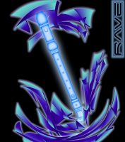 Rave - Poster Blue 2 by Magic92