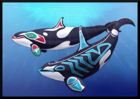 Totem Orcas-revised by AqueosOrca