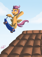 The Dangers of Being Scootaloo by Alipes
