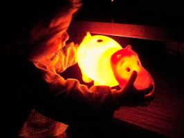 Baby and hippo lamp by gamebalance