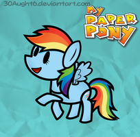 My Paper Pony:Dash by UrpleB3atin