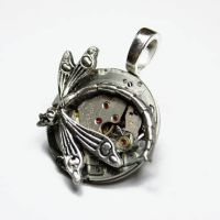 Steampunk Dragonfly Pendant by Create-A-Pendant