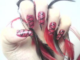 Gothic nails by MorticiaVamp