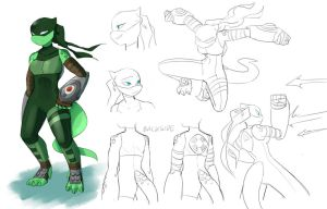 Another Cyrena Redesign by RednBlackDevil