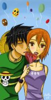 Luffy x Nami : Lollipop by PokuPoku