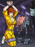 April O'Neil put in bondage by Krang by cuttlesquid