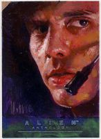 alien anthology oil sketch card 5 by charles-hall