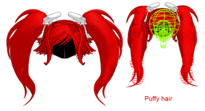 MMD- Puffy Tails- W-Physichs by MMDFakewings18