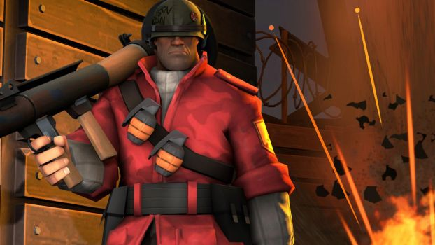 Team Fortress 2: Combat ready soldier by TheImperialCombine