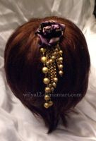Hair jewel golden rain by Wilya12