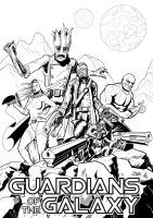 Guardians of the Galaxy by sirandal