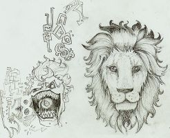 Lion tattoo version 3 by Artslut