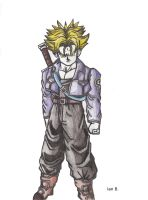 Super Saiyanjin Trunks Briefs Fan art by iansart2012