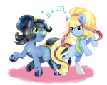 .:MLP Radio Star and Catzirella:. Comission by Airinreika