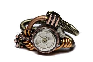 Steampunk Ring Copper Machine by CatherinetteRings