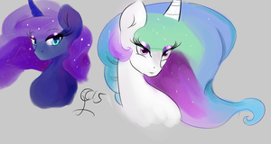 The Two Sisters ((color Practice)) by thelunarmoon