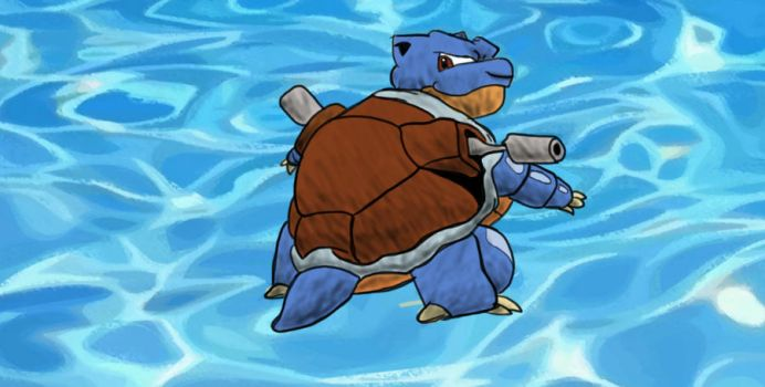 Blastoise in color by gogitolka