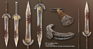 Ancient Sword of War and Courage by GreyPWalker