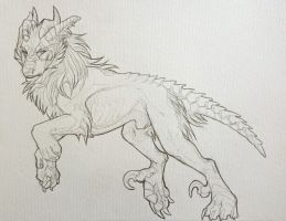 Narri traditional sketch by Velkss