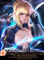 Saber (softcore NSFW) teaser by sakimichan