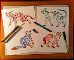 Traditionally Drawn Adopts by RussianBlues