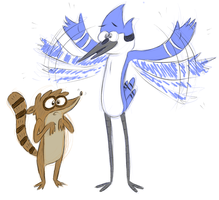Regular Show (literally for once) by desthpicable