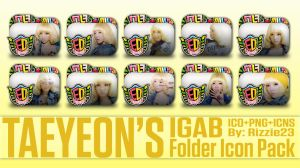 Taeyeon IGAB Folder Icon Pack by Rizzie23