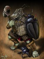 Gorakiki Troll Warrior by Blackyinkin