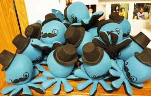 Blue gentlemen octopus plushes by jaynedanger