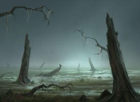 Swamp Sketch by joelhustak