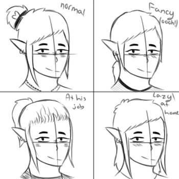 Vincent's Hairstyles Updated by Lu-Draws