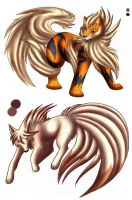 Talisha and Blaine's Arcanine by Kirsui