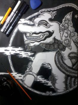 One of character in the wayang story, Cakil by Vndmorph