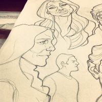 Sketches from 2013 (2) by thousandfoldart