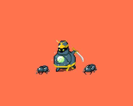 Overweighted Beetle Ninja. by matchola