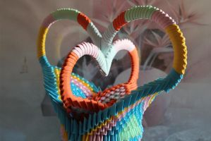 Origami love by justrussian