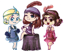 Flapper Ladies FTW by FaeHime