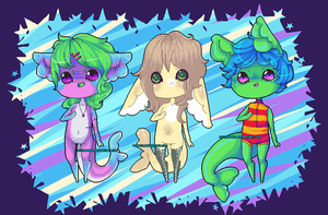 .:Notpie Pixel Gummi Shark Adopts Collab:. by Pieology