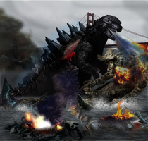 Godzilla vs Pacific rim-eliminate the last dirt by ThrillerzillaArt
