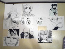Some drawings on my wall by annaxichigo