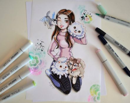 Lil' Dogs Commission by Lighane