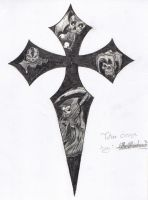 Cross and Skulls by silentreaper666